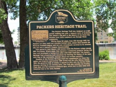 Packers Heritage Trail Marker image. Click for full size.