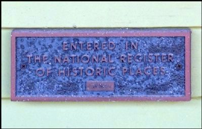 National Registry Plaque image. Click for full size.