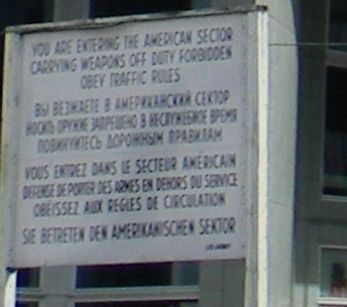 Checkpoint Charlie Site Marker Panel 2 image. Click for full size.
