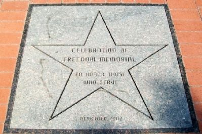 Celebration of Freedom Memorial Marker image. Click for full size.
