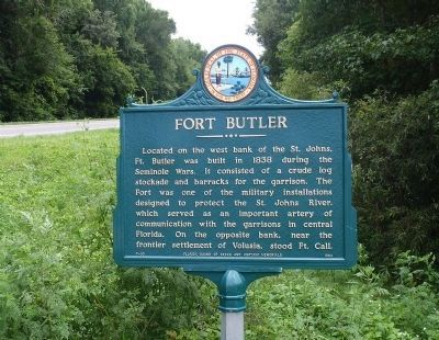 Fort Butler Marker Photo, Click for full size
