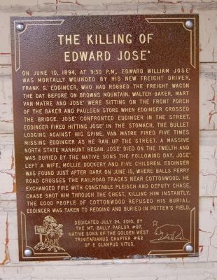The Killing of Edward José Marker image. Click for full size.