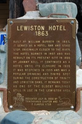 Lewiston Hotel Marker image. Click for full size.