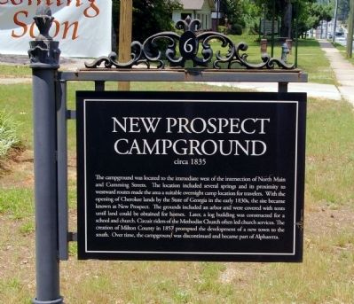 New Prospect Campground Marker image. Click for full size.