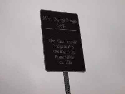 Miles (Myles) Bridge Marker image. Click for full size.
