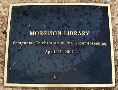 Morrison Library Centennial Celebration Marker Photo, Click for full size