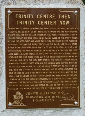 Trinity Center Then – Trinity Center Now. Marker Photo, Click for full size