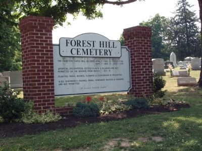 Sign - - Forest Hill Cemetery Photo, Click for full size
