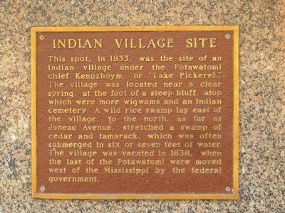 Indian Village Site Marker image. Click for full size.