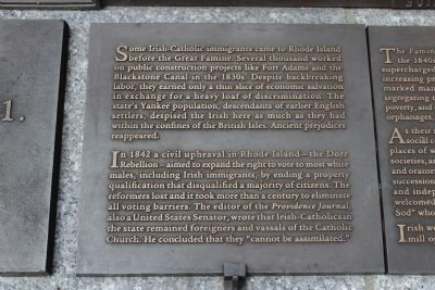 Rhode Island Irish Famine Memorial Marker 6 of 10 image. Click for full size.