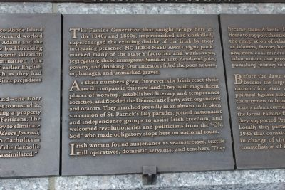 Rhode Island Irish Famine Memorial Marker 7 of 10 image. Click for full size.