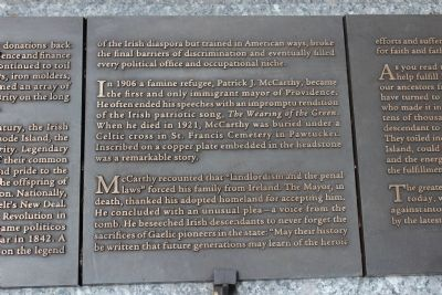 Rhode Island Irish Famine Memorial Marker 9 of 10 image. Click for full size.