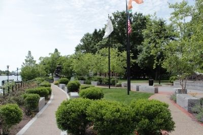 Rhode Island Irish Famine Memorial Park image. Click for full size.