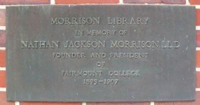 Morrison Library Marker image. Click for full size.