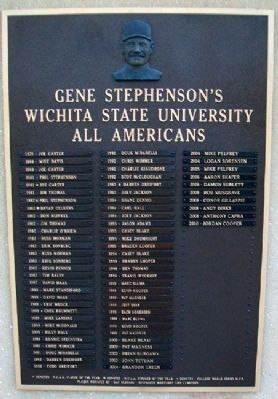 Gene Stephenson's WSU All Americans Marker image. Click for full size.