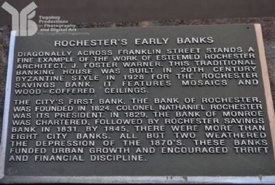 Rochester's Early Banks Marker image. Click for full size.