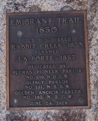 Emigrant Trail Marker image. Click for full size.