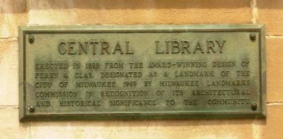 Central Library Marker image. Click for full size.