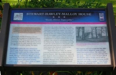 Stewart-Hawley-Malloy House Marker image. Click for full size.