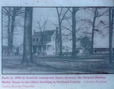 Stewart-Hawley-Malloy House Marker Photo, Click for full size