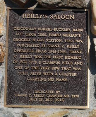 Reilly�s Saloon Marker image. Click for full size.