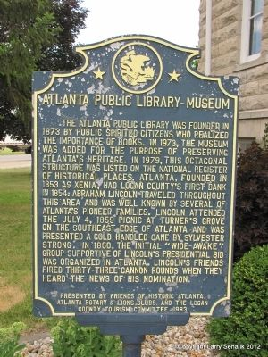 Atlanta Public Library-Museum Marker image. Click for full size.