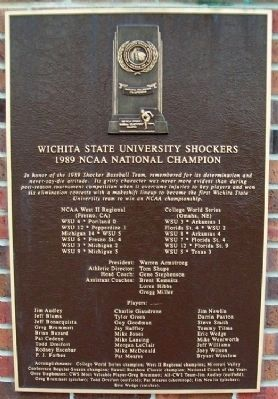 WSU Shockers 1989 NCAA National Champion Marker image. Click for full size.