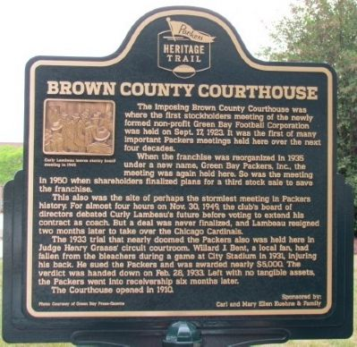 Brown County Courthouse Marker image. Click for full size.