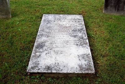 Cover stone over Letitia Christian Tyler's grave. image. Click for full size.