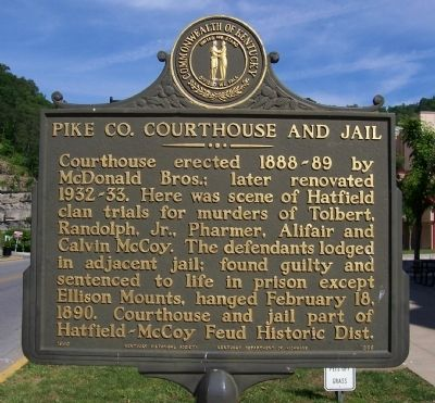 Pike Co. Courthouse and Jail Marker image. Click for full size.