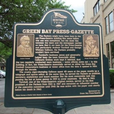 Green Bay Press-Gazette Marker image. Click for full size.