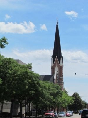 St. Willebrord Catholic Church in the distance image. Click for full size.