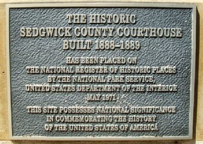 The Historic Sedgwick County Courthouse NRHP Marker image. Click for full size.