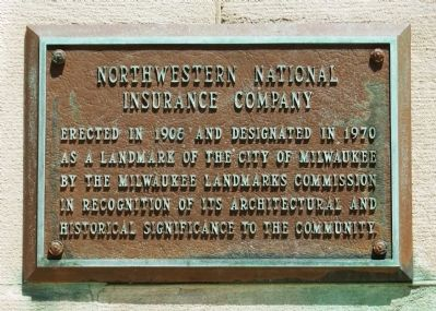 Northwestern National Insurance Company Marker image. Click for full size.