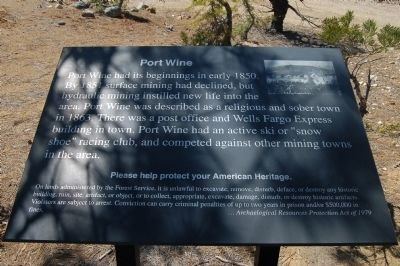 Port Wine Marker image. Click for full size.