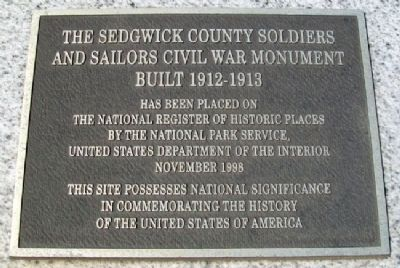 Civil War Soldiers and Sailors Memorial NRHP Marker Photo, Click for full size