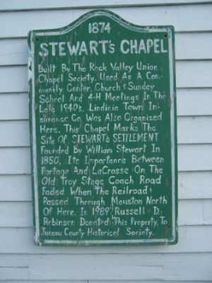 Stewart's Chapel 1874 Marker image. Click for full size.