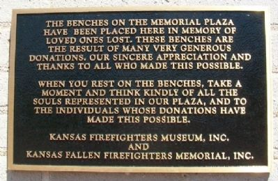 Kansas Firefighters' Memorial Marker at Engine House #6 image. Click for full size.