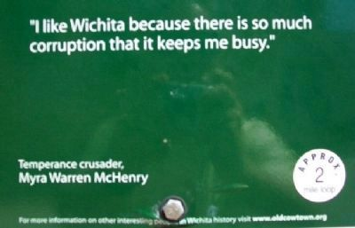 Myra Warren McHenry Quote on Marker image. Click for full size.