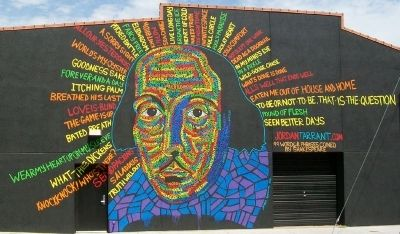 99 Words & Phrases Coined by Shakespeare Mural image. Click for full size.