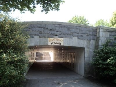 Beat Navy Tunnel Marker Photo, Click for full size