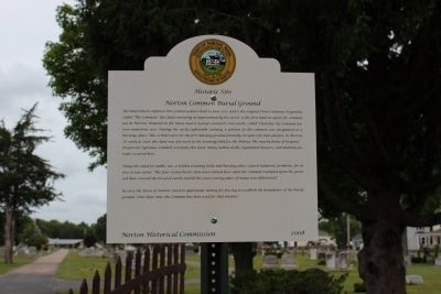 Norton Common Burial Ground Marker image. Click for full size.
