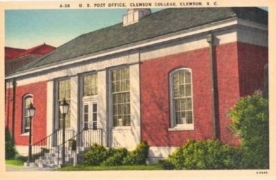 Mell Hall<br>Former U.S. Post Office<br>Historic Postcard image. Click for full size.