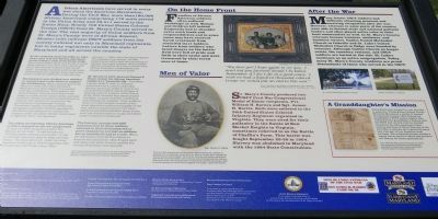 United States Colored Troops Civil War Memorial Monument Marker image. Click for full size.