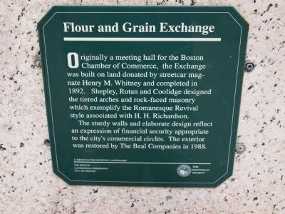 Flour and Grain Exchange Marker image. Click for full size.