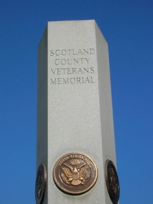 Scotland County Veterans Memorial Marker image. Click for full size.