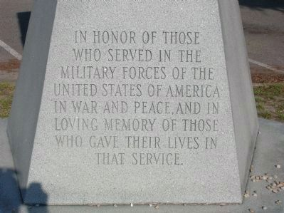 Scotland County Veterans Memorial (Front Face) image. Click for full size.