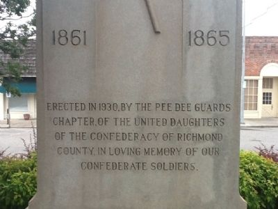 Confederate Soldiers Memorial Marker Photo, Click for full size