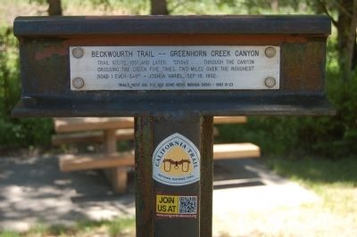 Beckwourth Trail – Greenhorn Creek Canyon Marker image. Click for full size.