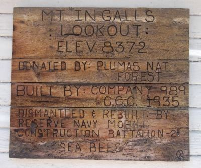 Mt. Ingalls Lookout Marker image. Click for full size.